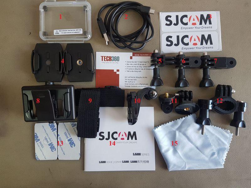Phụ kiện action cam đi kèm khi mua SJCAM có những gì?