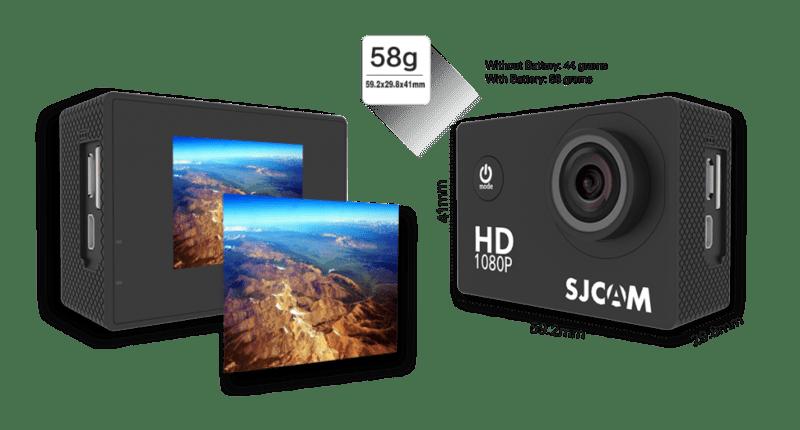 Ưu nhược điểm có màn hình LCD và kết nối Wifi của dòng camera hành trình thể thao