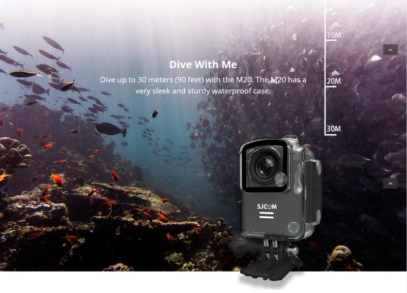 Action cam SJCAM M20 sản phẩm cho mùa du lịch và khám phá biển 2016