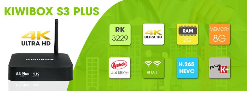 Android TV Box KiwiBox S3 Plus