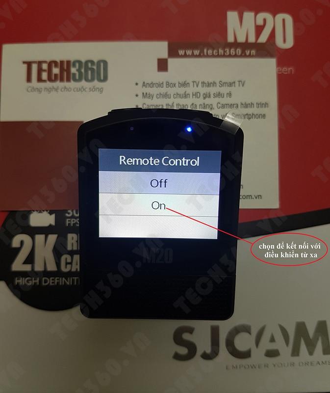 Hướng dẫn kết nối SJCAM M20 với Smart Watch Remote (đồng hồ điều khiển từ xa)
