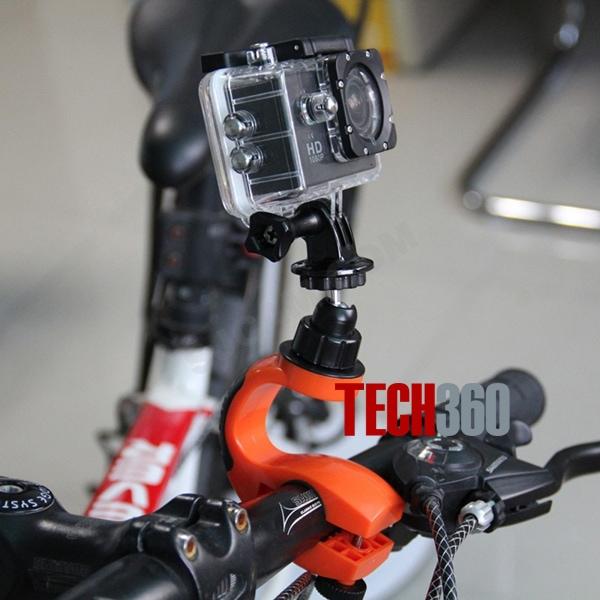 Phụ kiện cần khi gắn action cam lên ô tô, xe máy, xe đạp
