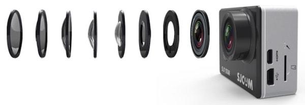Sau khi camera thể thao SJ6 Legend tạo bước đột phá so với các sản phẩm SJCAM thế hệ trước, và để nối tiếp sắp tới hãng sẽ tung ra thị trường dòng action cam cao cấp có tên gọi là SJ7 Star. Sản phẩm này cũng được cho ra mắt thị trường với 3 màu sắc là đen, bạc và vàng hồng. Camera thể thao SJCAM SJ7 Star là sản phẩm thuộc dòng cao cấp nên vỏ được thiết kế bằng hợp kim nhôm nguyên khối tạo sự sang trọng, thanh lịch…. Với màn hình LCD 2inch cảm ứng như camera thể thao SJ6 Legend giúp người dùng điều hướng menu, thay đổi các tùy chọn và giúp xem lại các video hay hình ảnh dễ dàng hơn. SJCAM SJ7 Star sử dụng Ambarella A12S75 - dòng chipset cao cấp của action cam hỗ trợ quay video chuẩn 4K và giúp cân bằng điện tử. Và được trang bị cảm biến SONY IMX117 12MP cũng đang được dùng trên GoPro Hero 4 Black, Andoer C5 và một số camera thể thao 4K khác trên thị trường. Đây là cảm biến luôn cho chất lượng hình ảnh cao nhất, bắt sáng và nhạy sáng tốt. Mặc dù chỉ được trang bị cảm biến 12MP nhưng người dùng cũng có thể chụp ảnh với độ phân giải cao hơn lên đến 14MP hay thậm chí 16MP. SJCAM SJ7 Star hỗ trợ thẻ nhớ microSD 32GB và tối đa lên tới 64 GB và được hỗ trợ các cổng kết nối như sản phẩm tiền nhiệm Camera thể thao SJ6 Legend với cổng microHDMI cho đầu ra video HD, và một cổng USB mini để có thể sử dụng cắm một microphone bên ngoài hoặc cắm vào cổng USB để truyền tải dữ liệu ra máy tính và sạc. Và đương nhiên dung lượng pin cũng được hãng cải thiện lên 1000 mAh. SJCAM SJ7 Star cũng sở hữu remote điều khiển từ xa thời trang và tiện lợi như M20 và SJ6 Legend. Ngoài ra những chức năng đặc trưng của một chiếc camera thể thao như chống nước với độ sâu lên đến 30m, góc quay rộng 170 độ, chế độ car mode, Wifi kết nối với thiết bị điện thoại, máy tính bảng… và cùng với bộ phụ kiện đi kèm giúp người dùng có thể gắn camera lên mũ bảo hiểm, xe đạp, gậy tự sướng… SJCAM dự kiến sẽ chính thức tung ra dòng sản phẩm này vào cuối tháng 11 năm 2016 này với mức giá dự kiến 4.5900.000đ. Nếu bạn q