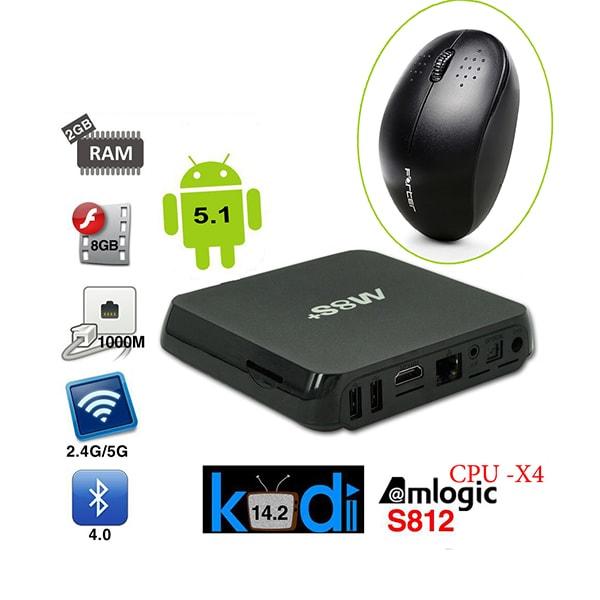 Android TV Box M8S+ (Plus) và chuột không dây