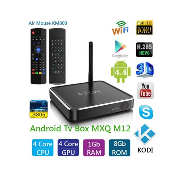 Android TV Box MXQ M12 + chuột bay KM800