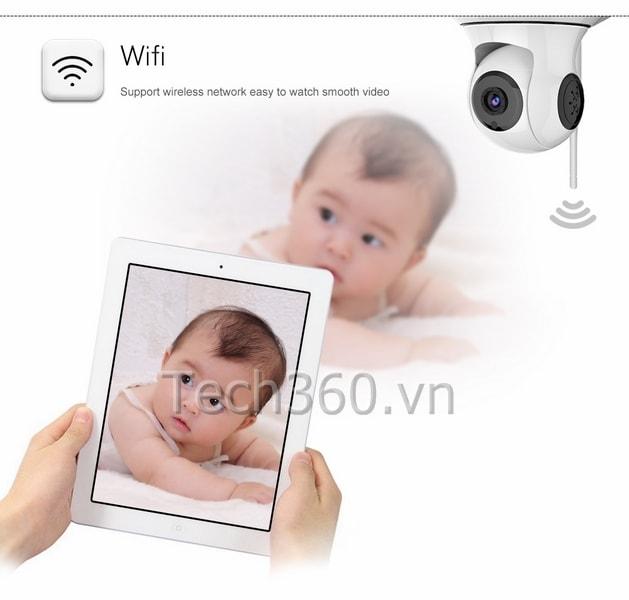 CAMERA IP BÁO ĐỘNG CHỐNG TRỘM ESCAM QF500 HD WIFI