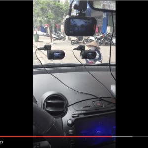 4 camera hành trình cùng chạy test trên xe Mazda 2S