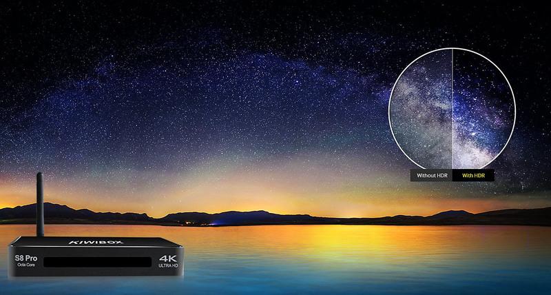 Kiwibox S8 Pro - Android 6.0, RAM 3G, AMLogic S912 64bit