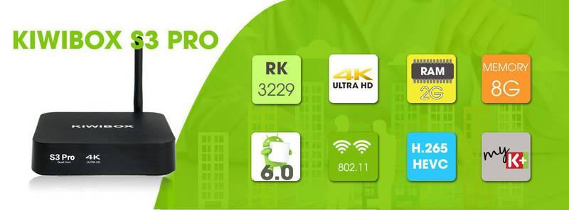 Kiwibox S3 Pro - RAM 2G, ROM 8G, Android 6.0