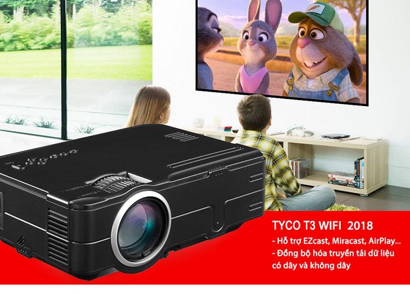 Máy chiếu mini Tyco T3 Wifi 2018