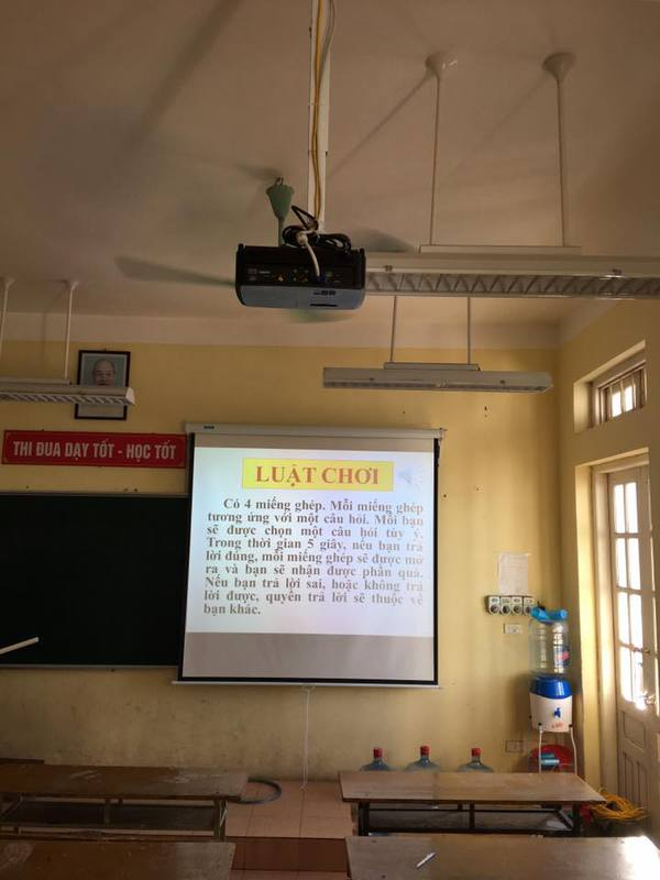 máy chiếu trường học
