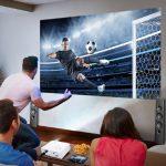 máy chiếu bóng đá